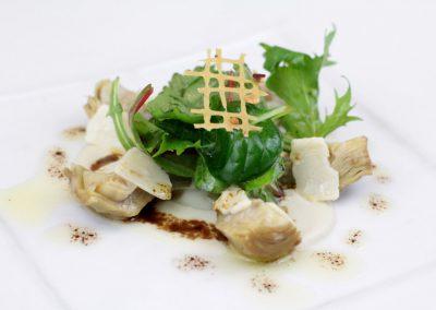 Salade d'artichauts et copeaux de Parmesan